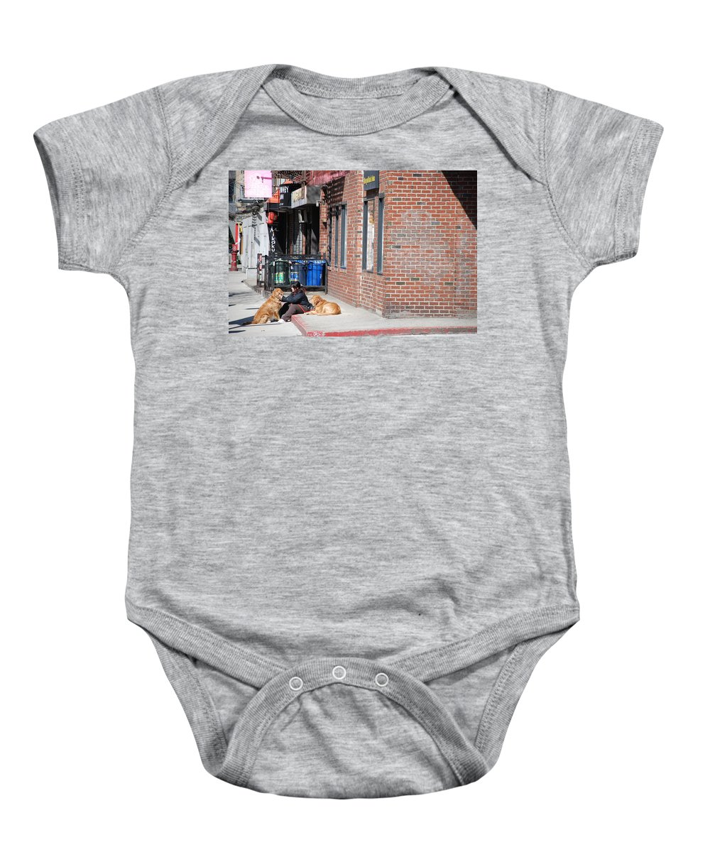 Girl Baby Onesie featuring the photograph Resting On The Corner by Rob Hans