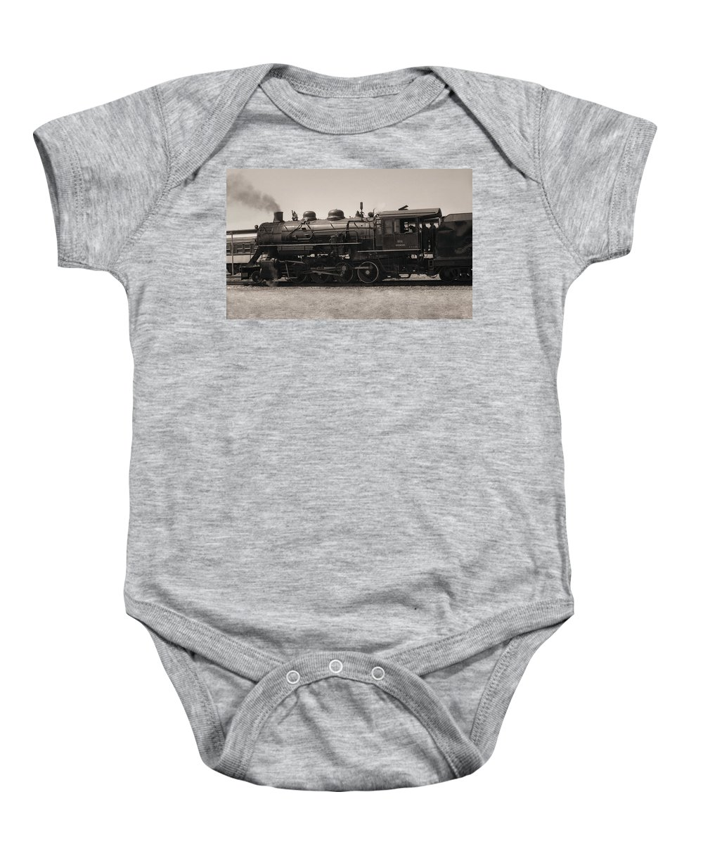 Americana Baby Onesie featuring the photograph Reverse Throttle by Richard Rizzo