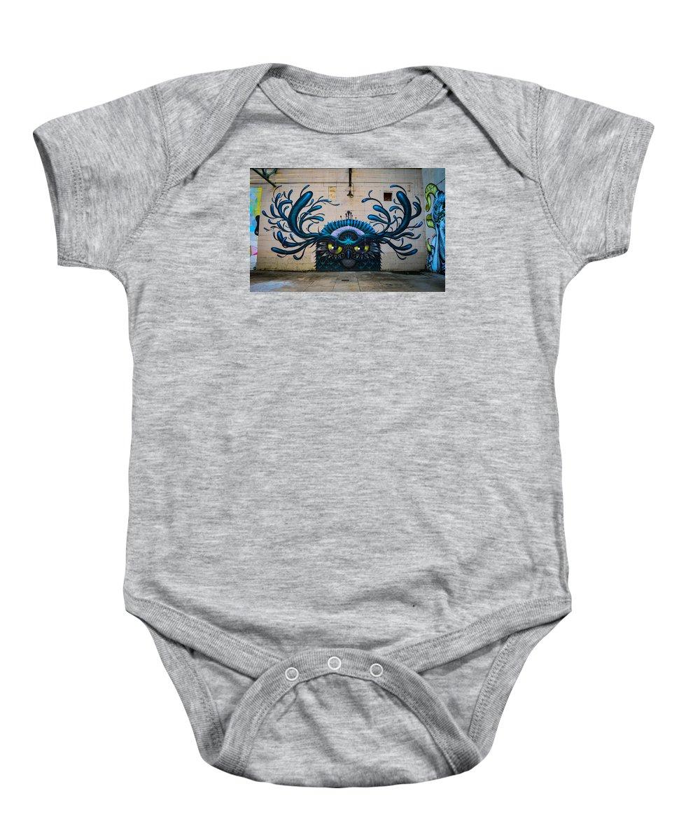 Street Art Baby Onesie featuring the photograph Richmond Street Art by Aaron Dishner