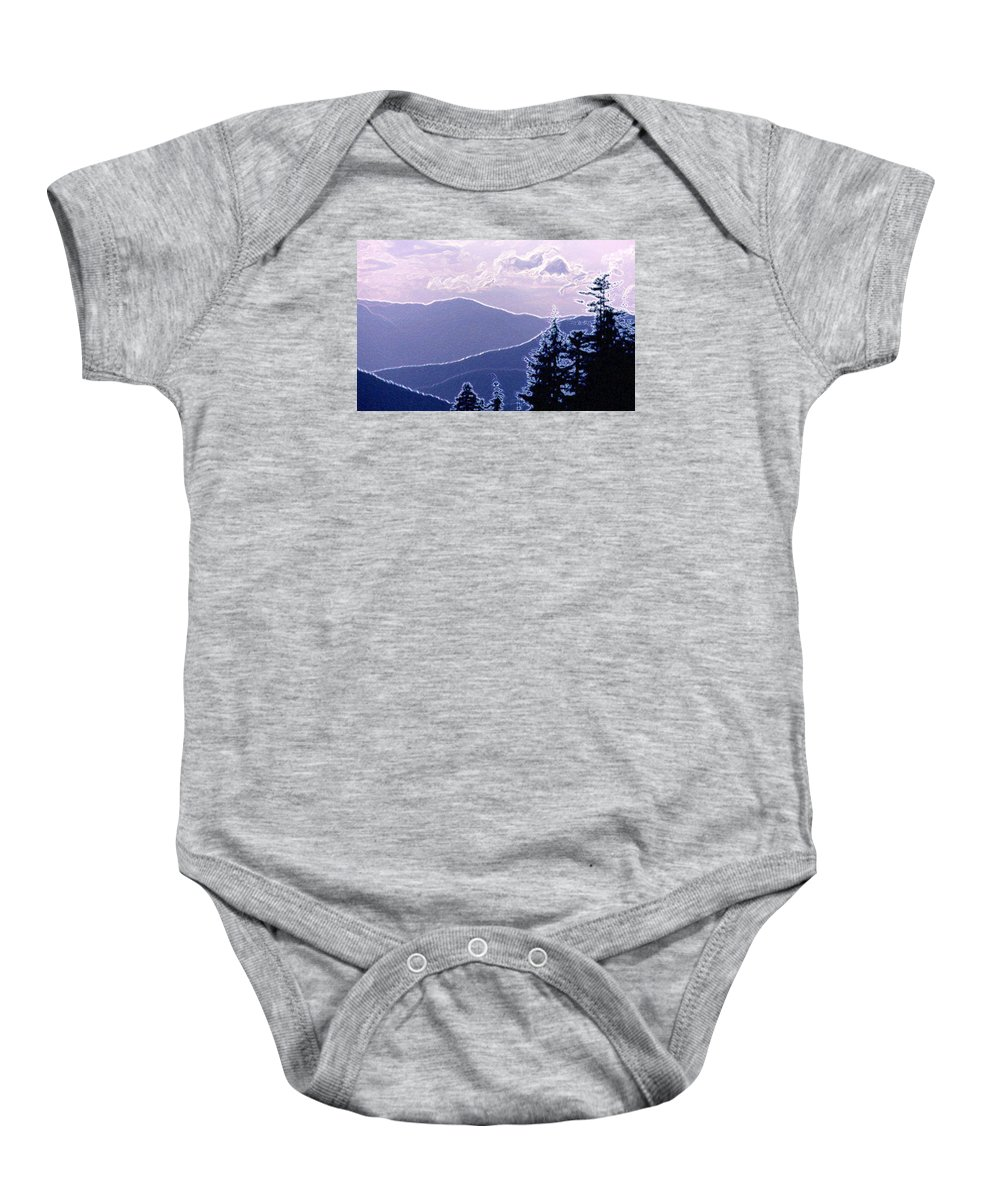 Abstract Baby Onesie featuring the photograph Ridge Layers 2 Pd2 by Lyle Crump