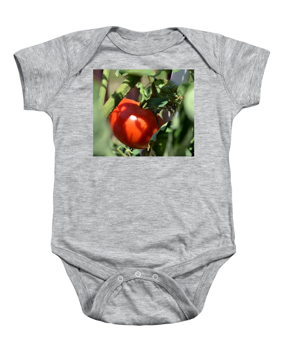 Ripe For Picking Baby Onesie featuring the photograph Ripe For Picking by James Pinkerton