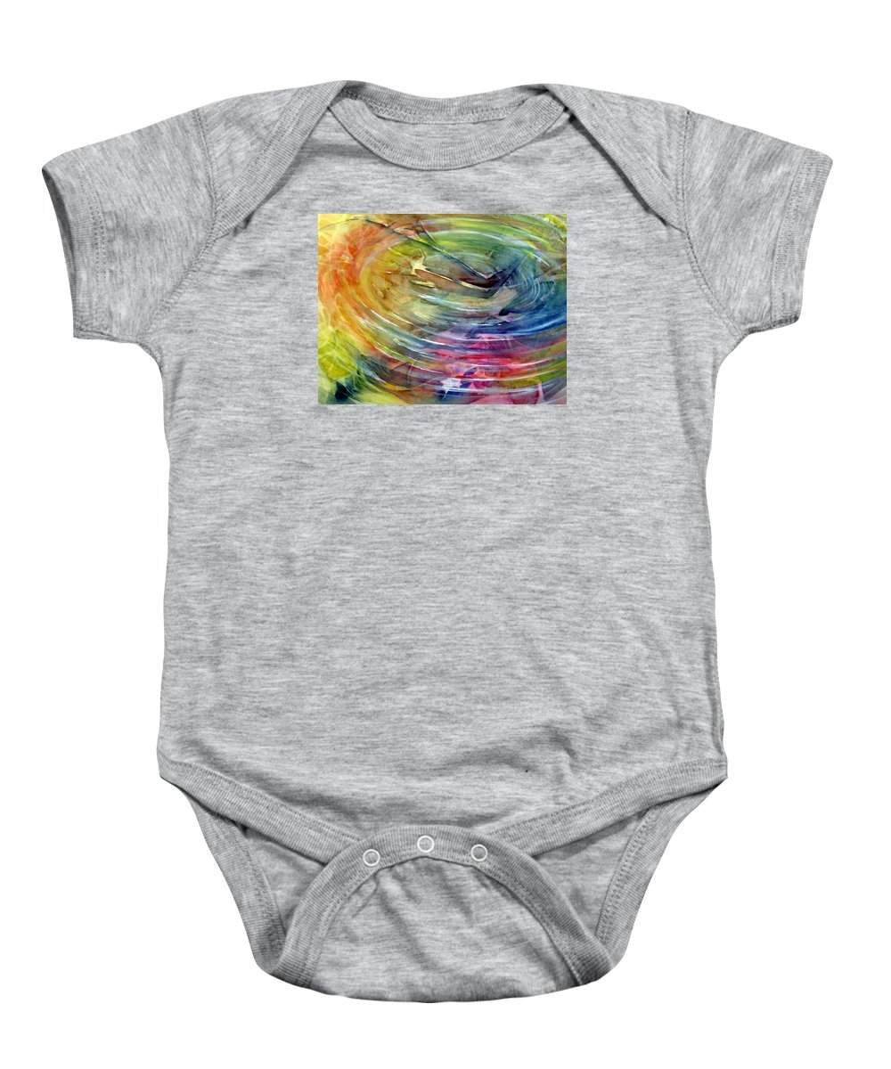 Ripples Baby Onesie featuring the painting Ripples by Allison Ashton