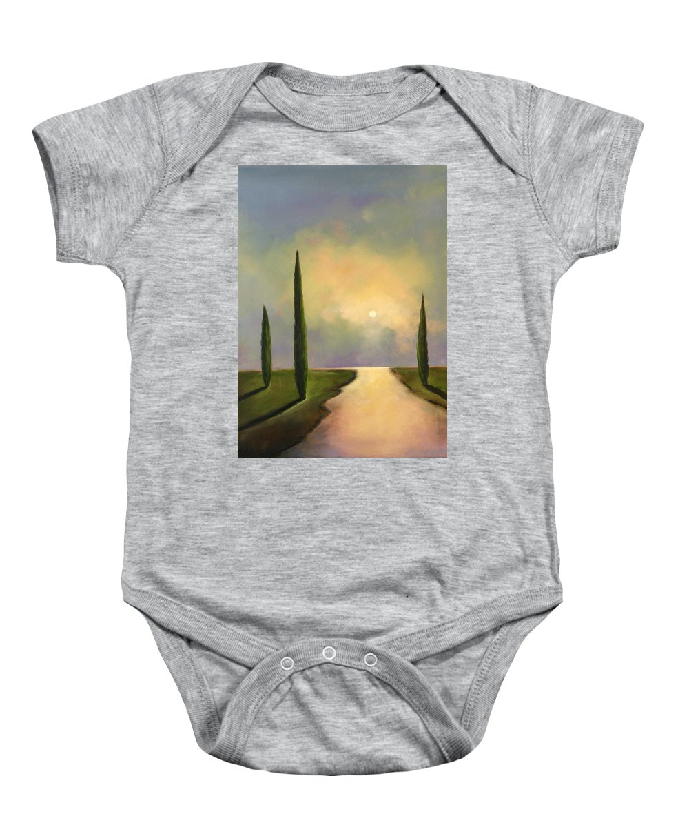 Trees Baby Onesie featuring the painting River Dreams by Toni Grote