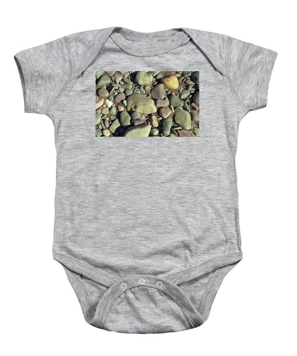 River Rock Baby Onesie featuring the photograph River Rock by Richard Rizzo