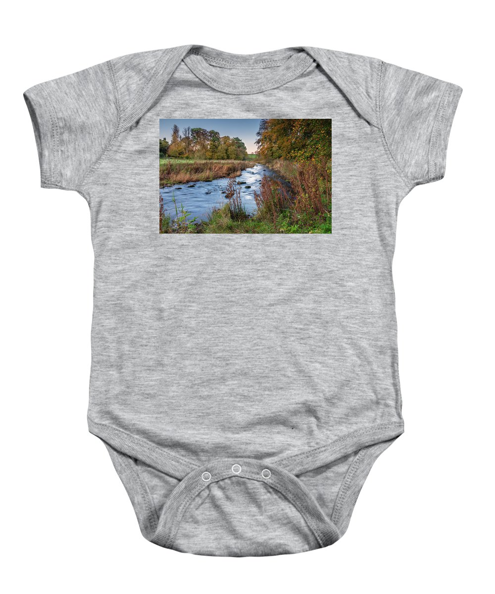 Northumberland Baby Onesie featuring the photograph River Wansbeck At Wallington by David Head