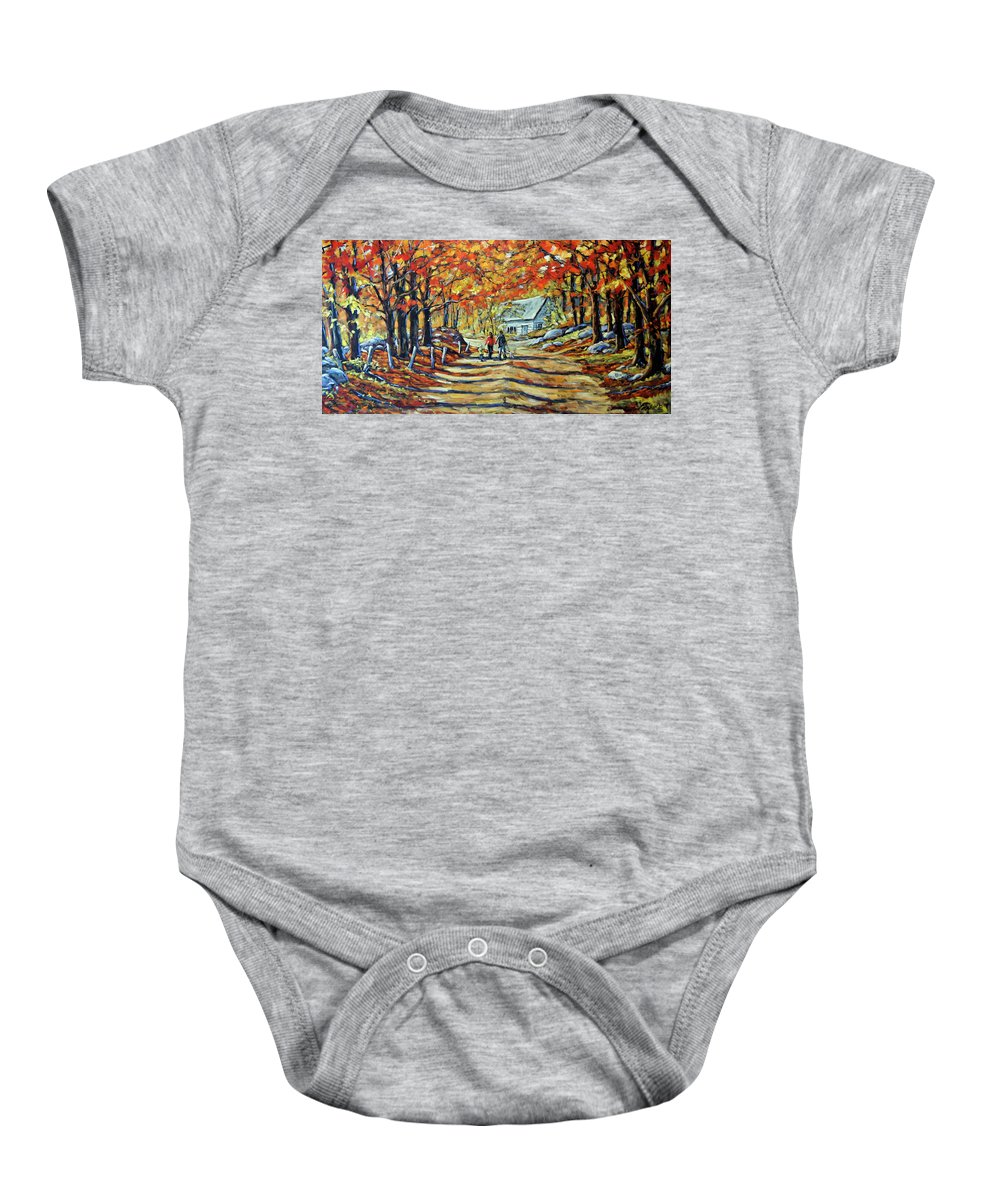 Art Baby Onesie featuring the painting Road Of Life Fine Art by Richard T Pranke