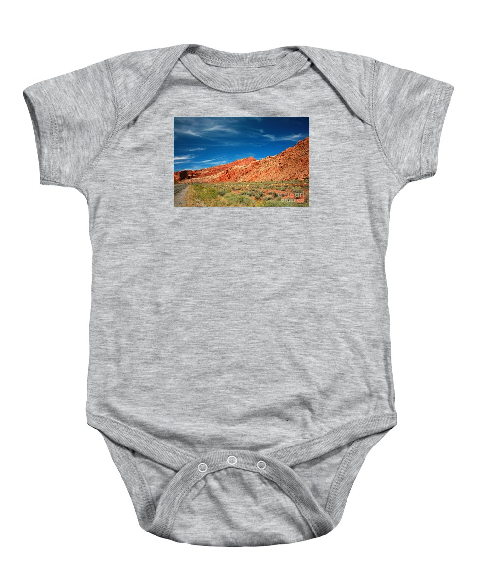 Arches National Park Baby Onesie featuring the painting Road To Arches National Park by Corey Ford