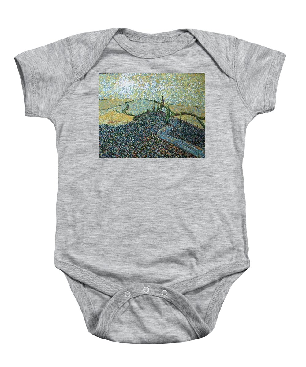 Landscape Baby Onesie featuring the painting Road To Tuscany by Stefan Duncan
