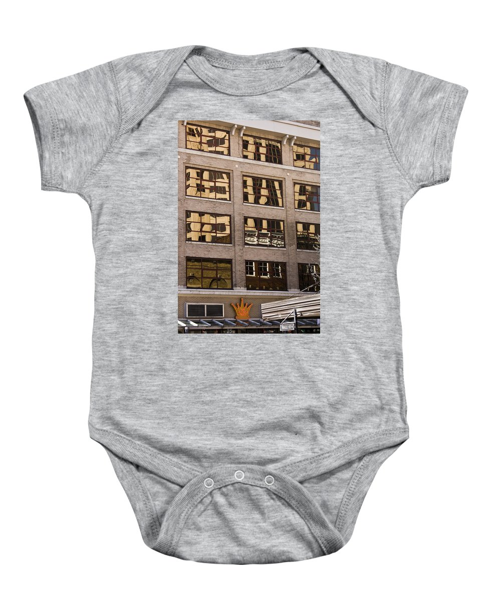 Roanoke Baby Onesie featuring the photograph Roanoke Reflection by Teresa Mucha