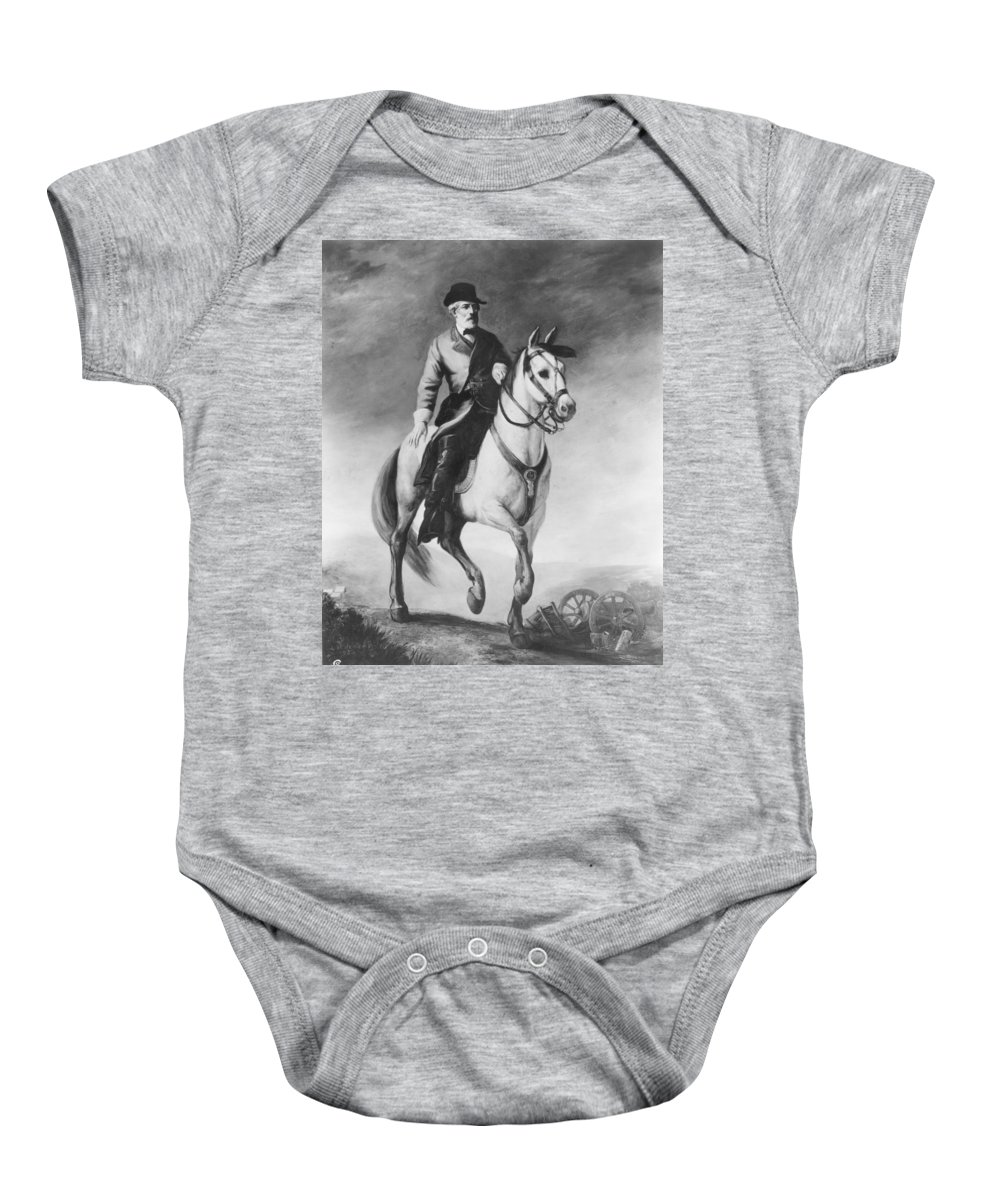 1860 Baby Onesie featuring the photograph Robert Edward Lee by Granger