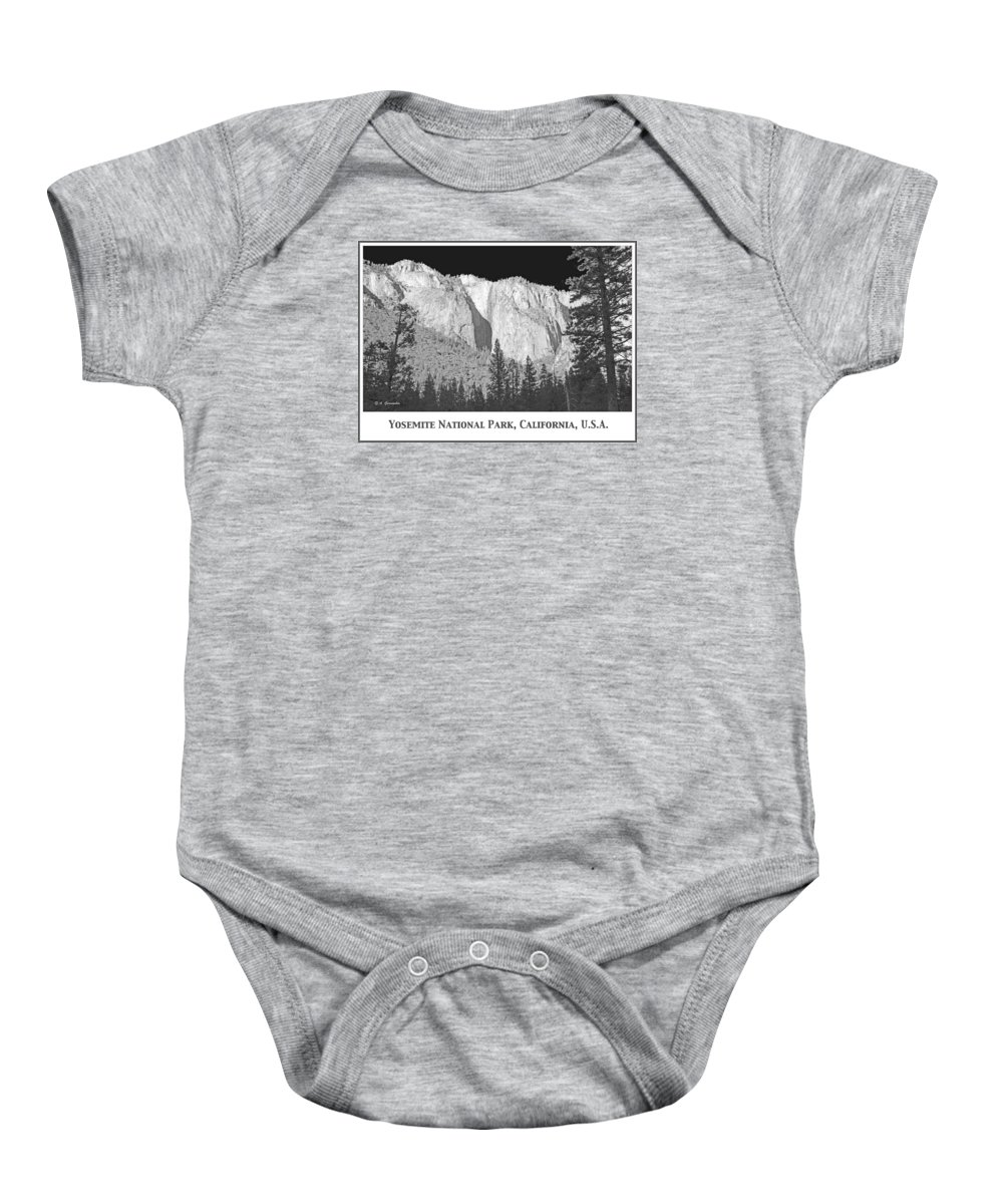 Silhouettes Baby Onesie featuring the photograph Rock Formation Yosemite National Park California by A Gurmankin