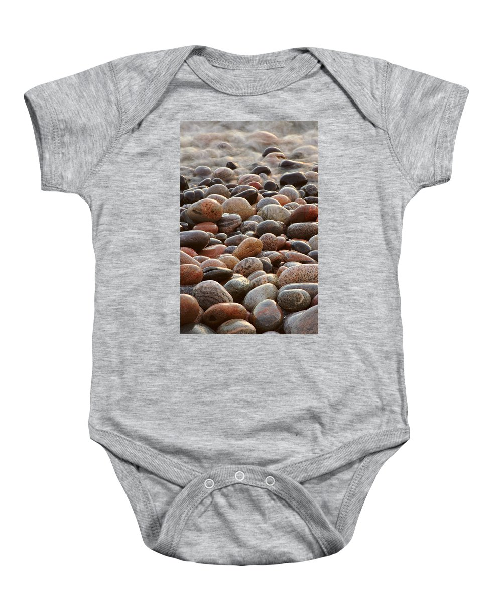 Water Baby Onesie featuring the photograph Rocks  by Doug Gibbons