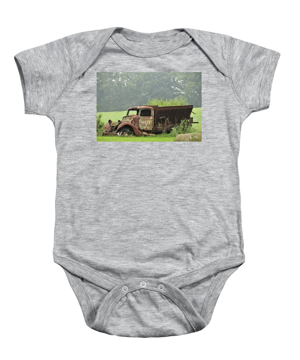 Truck Baby Onesie featuring the photograph Rocks B Us 1 by David Arment