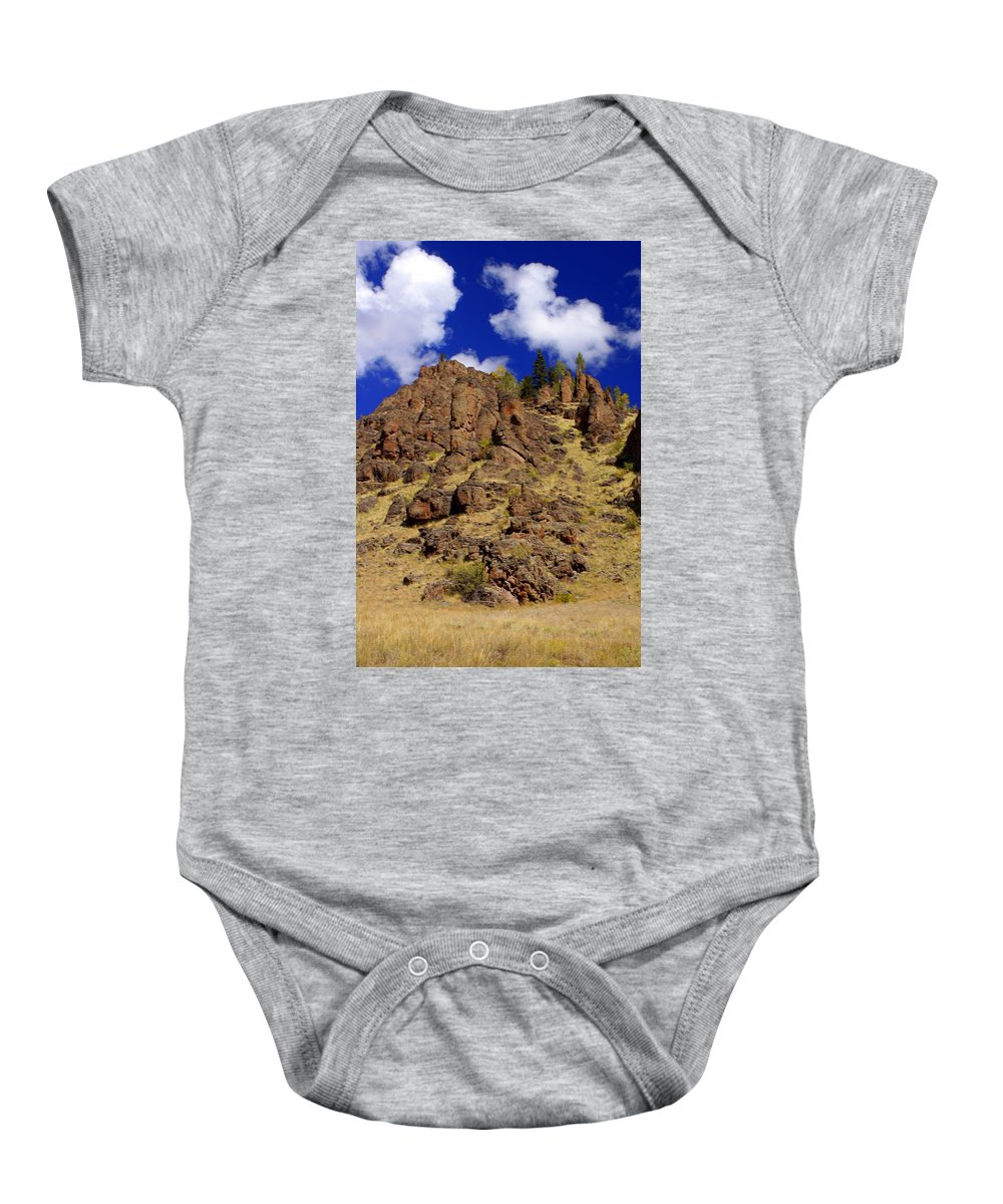 Colorado Baby Onesie featuring the photograph Rocky Butte by Marty Koch