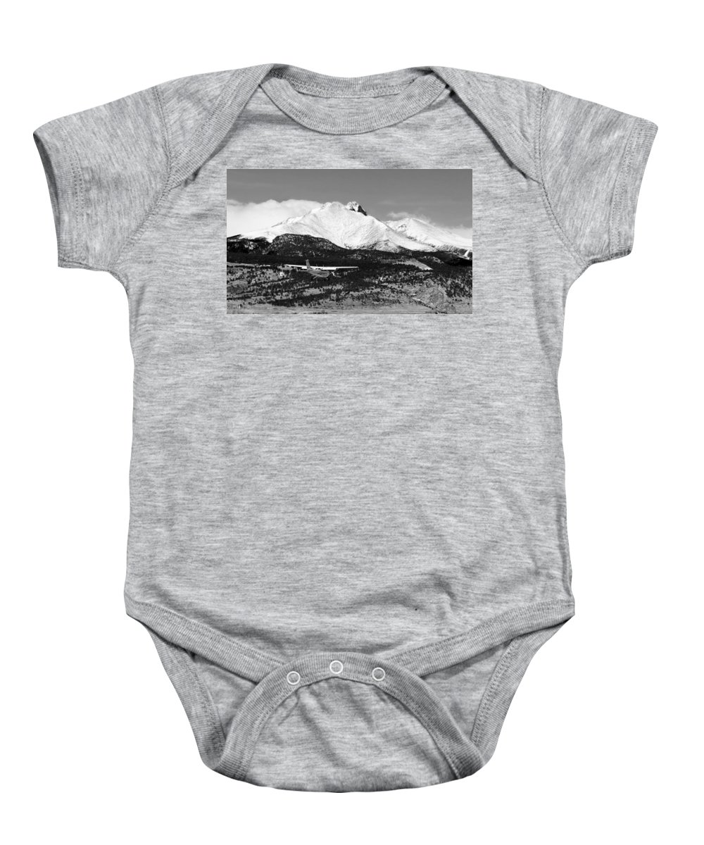 Aircraft Baby Onesie featuring the photograph Rocky Mountain Flying by James BO Insogna