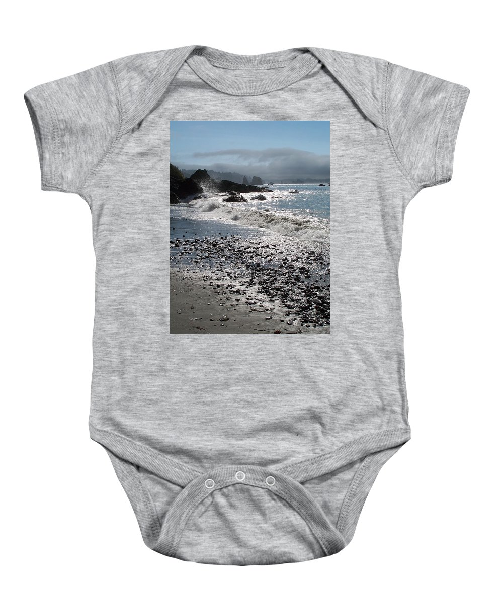 Ocean Baby Onesie featuring the photograph Rocky Shores by Gale Cochran-Smith