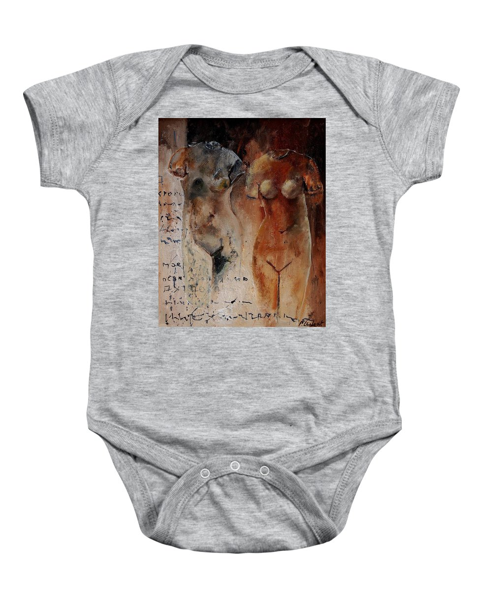 Nude Baby Onesie featuring the painting Roman Nudes 45 by Pol Ledent