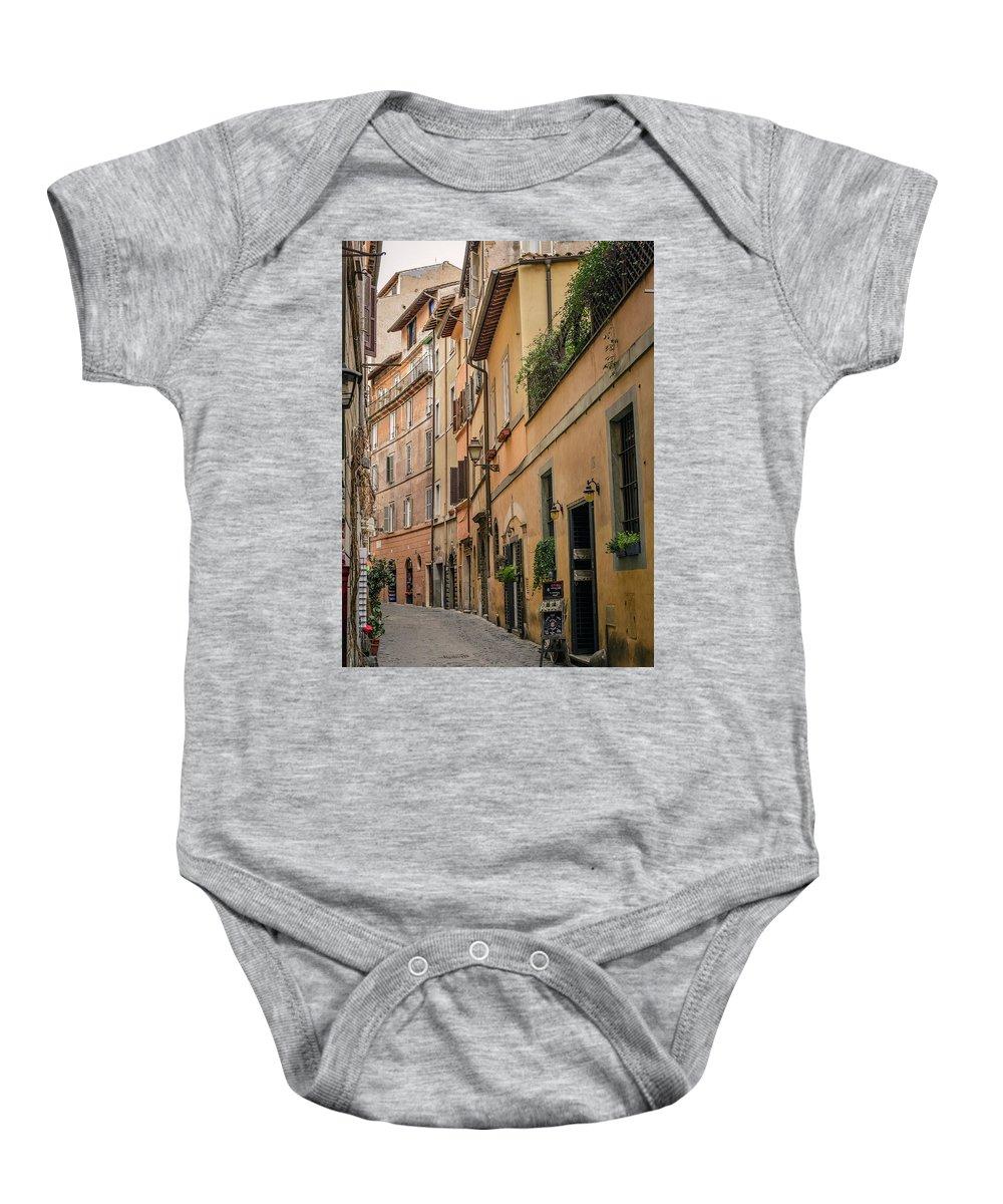 Roman Street Baby Onesie featuring the photograph Roman Street by Karma Boyer