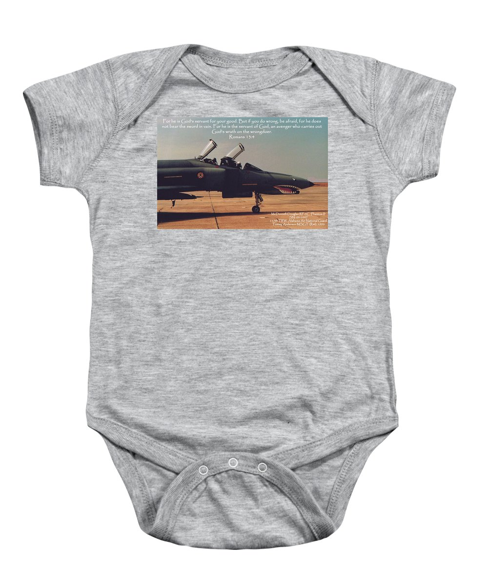 Scripture Baby Onesie featuring the photograph Romans 13-4 by Tommy Anderson