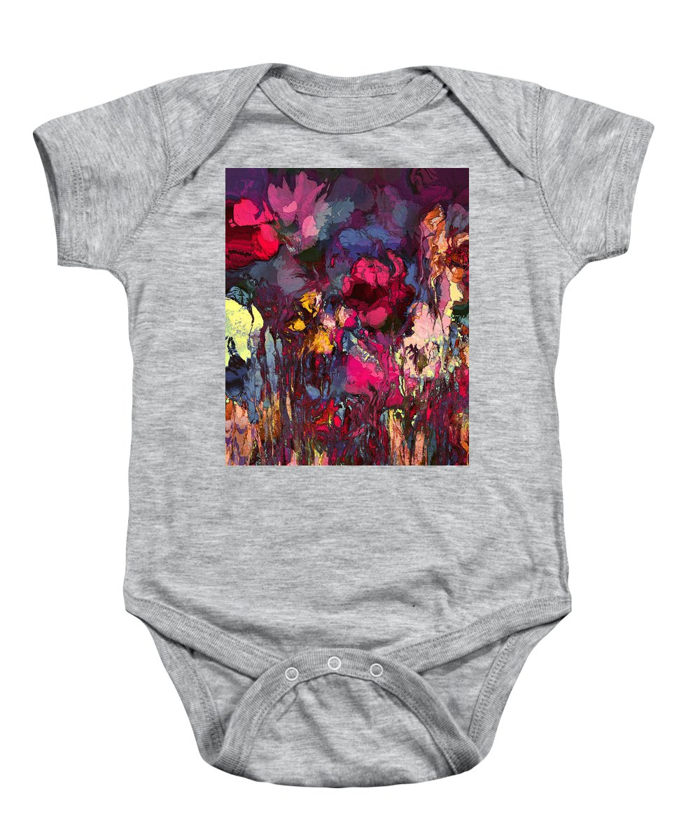 Flowers Baby Onesie featuring the painting Romantic Garden by Natalie Holland