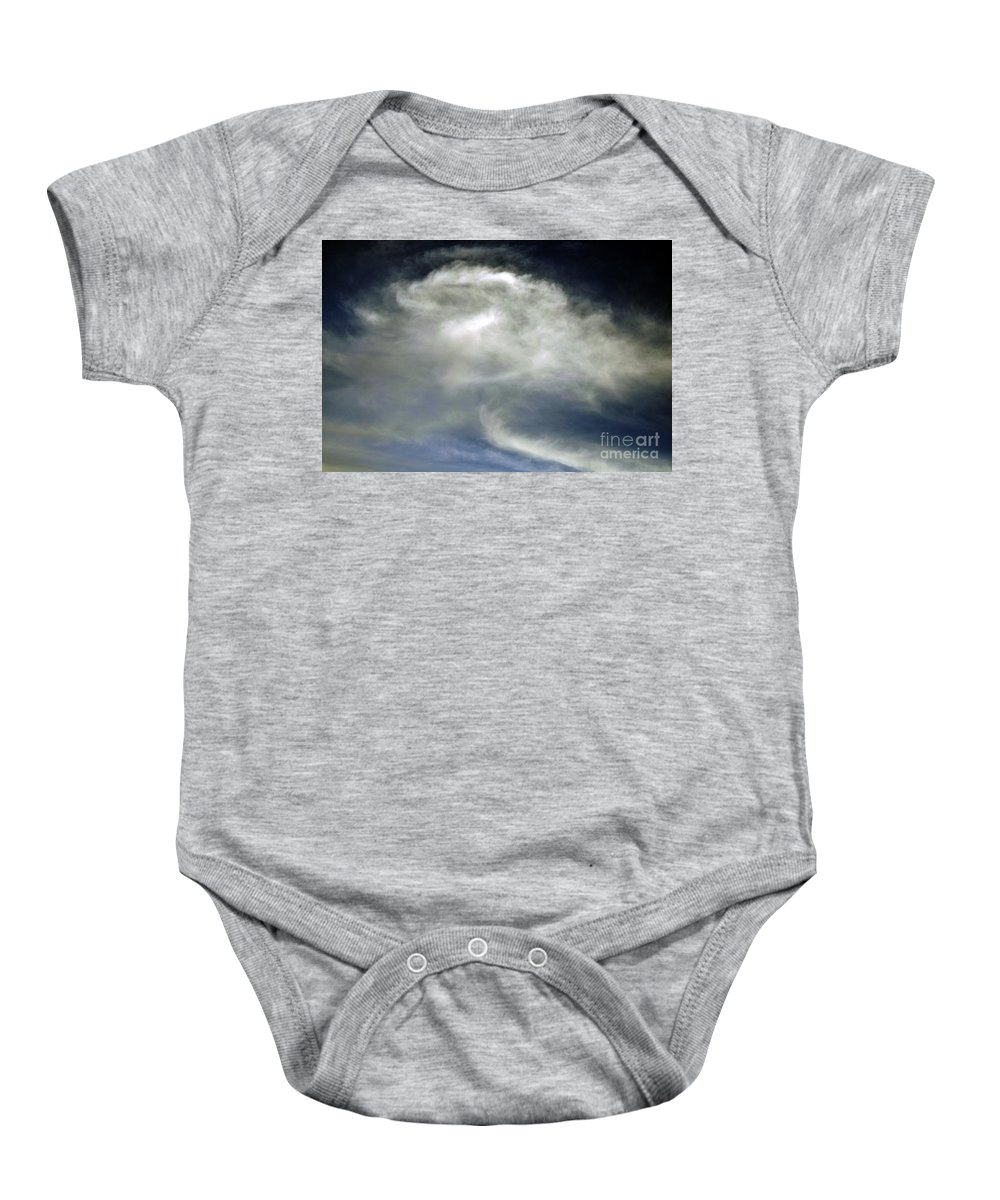 Clay Baby Onesie featuring the photograph Rose Cloud by Clayton Bruster