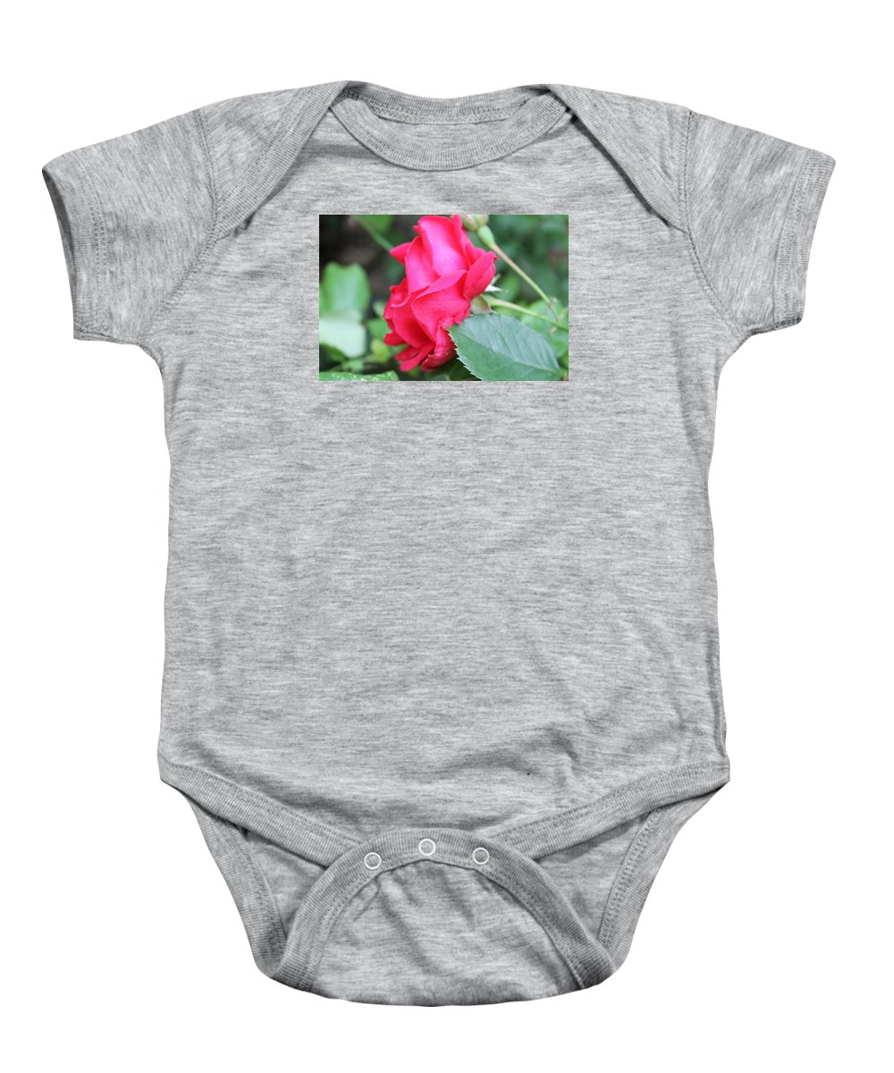 Rose. Flower Baby Onesie featuring the photograph Rose by Deven Birdwell