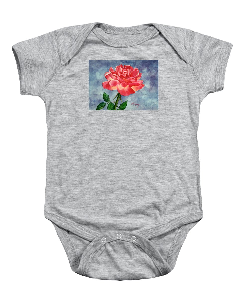 Rose Baby Onesie featuring the painting Rose by Melissa Joyfully