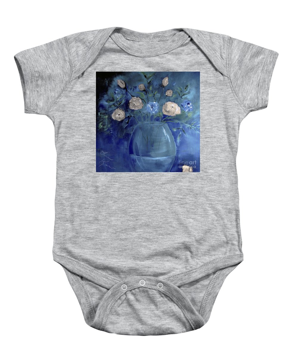 Roses Baby Onesie featuring the digital art Roses For Him Painting by Lisa Kaiser