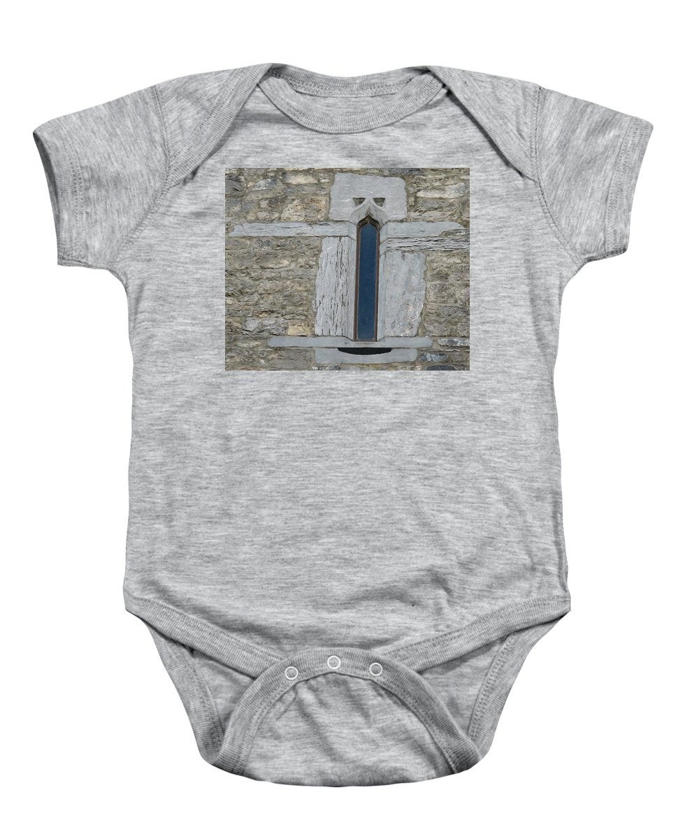Ross Castle Baby Onesie featuring the photograph Ross Castle by Kelly Mezzapelle