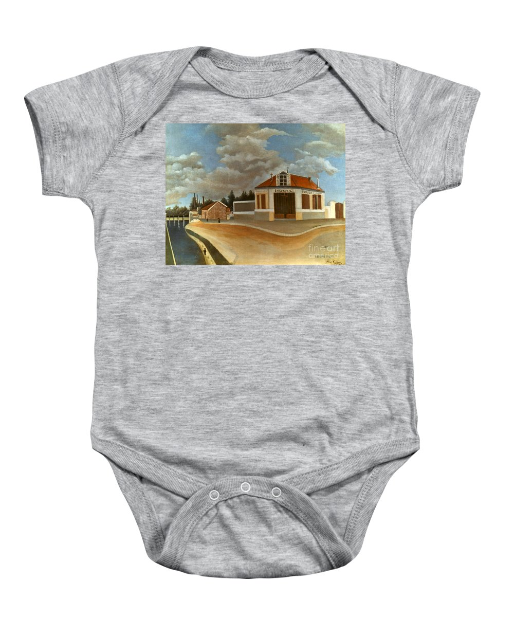 1897 Baby Onesie featuring the photograph Rousseau: Factory, C1897 by Granger
