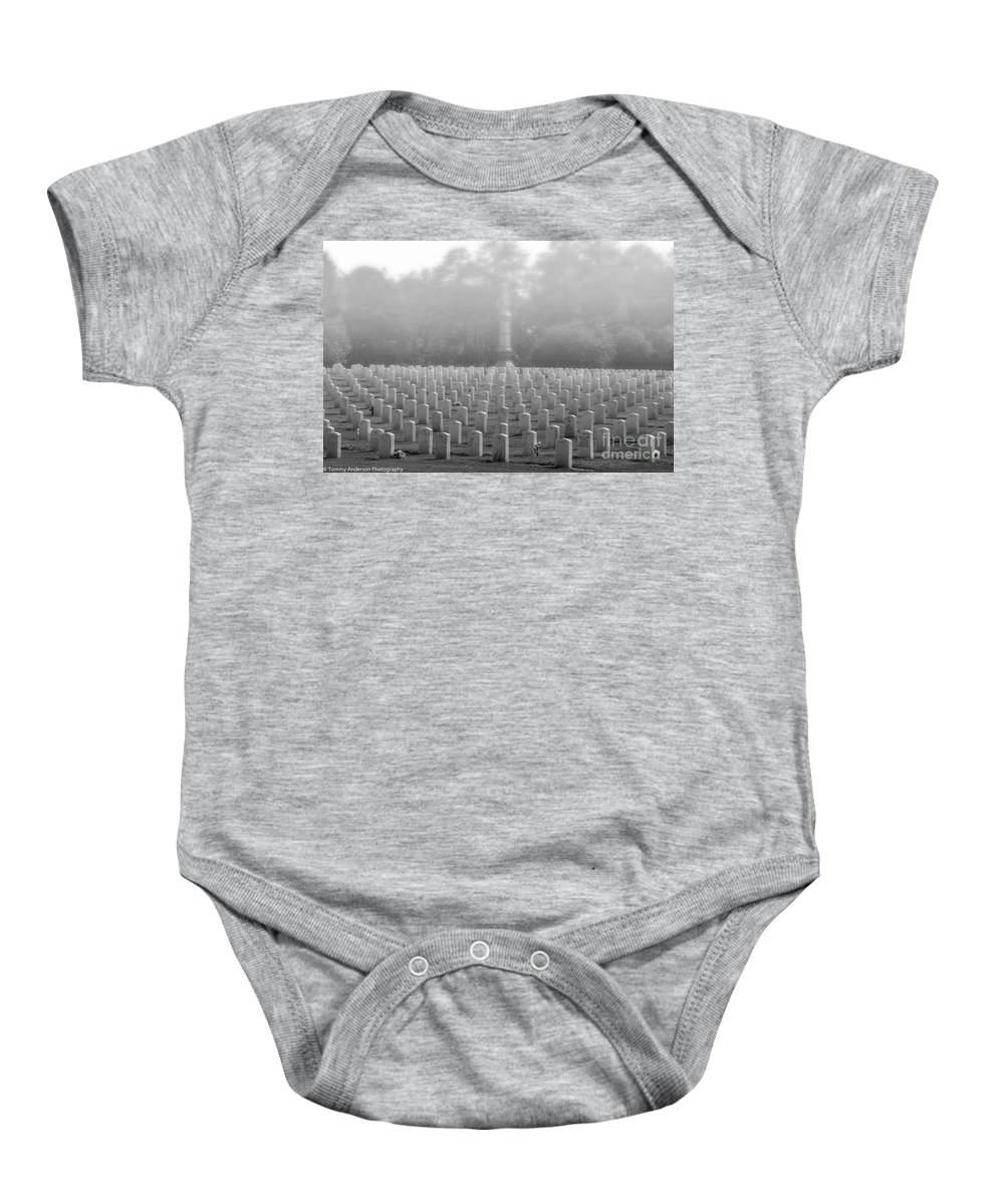 Andersonville Baby Onesie featuring the photograph Rows Of Heros by Tommy Anderson