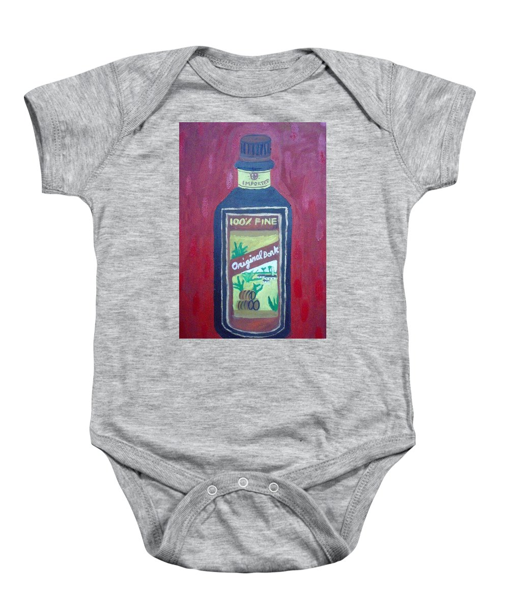 Oil On Canvas Baby Onesie featuring the painting Rum by Patrice Tullai