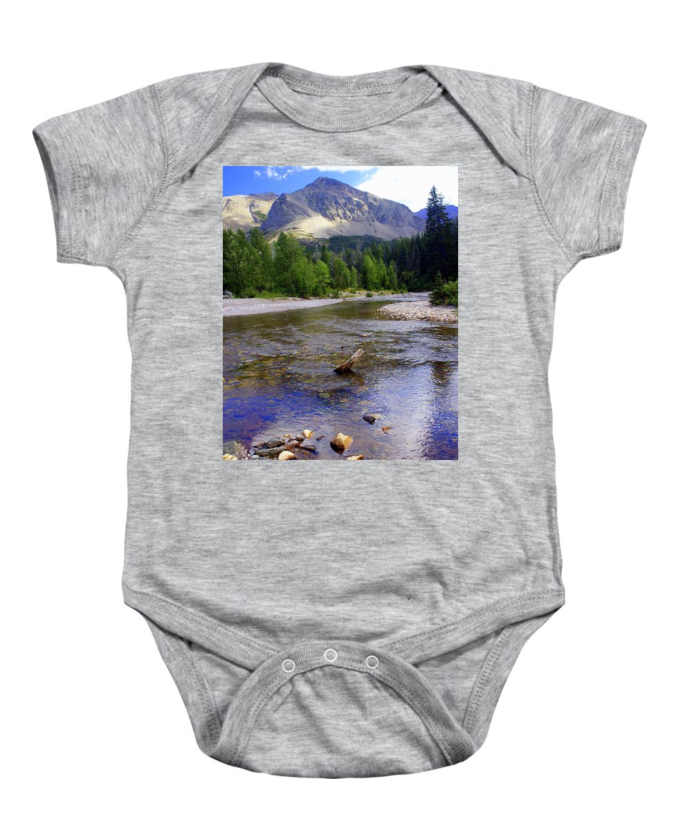 Stream Glacier National Park Baby Onesie featuring the photograph Running Eagle Creek Glacier National Park by Marty Koch
