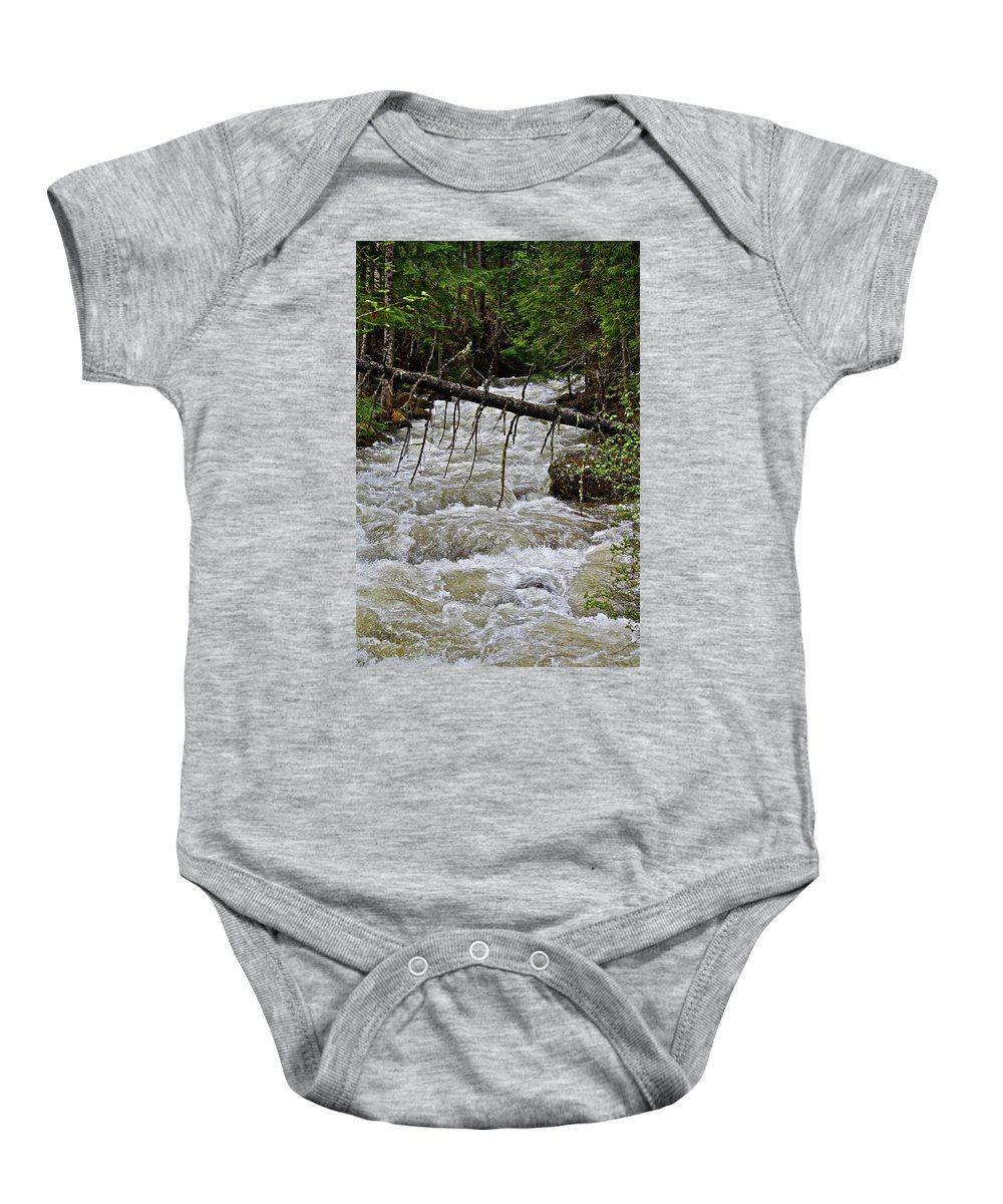 Water Baby Onesie featuring the photograph Rushing Stream by Diana Hatcher