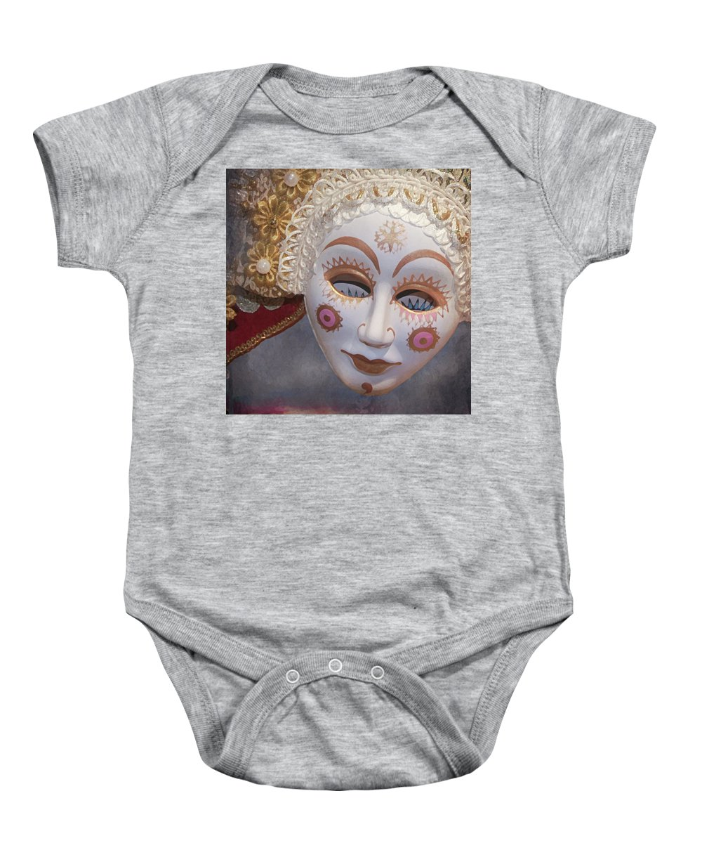 Baby Onesie featuring the digital art Russian Mask 4 by Jeff Burgess
