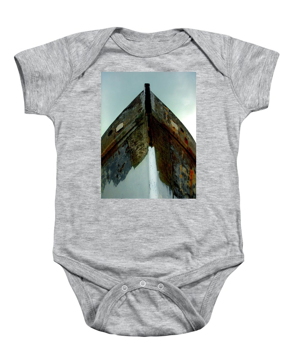 Boat Baby Onesie featuring the photograph Rusty Bow by Susanne Van Hulst
