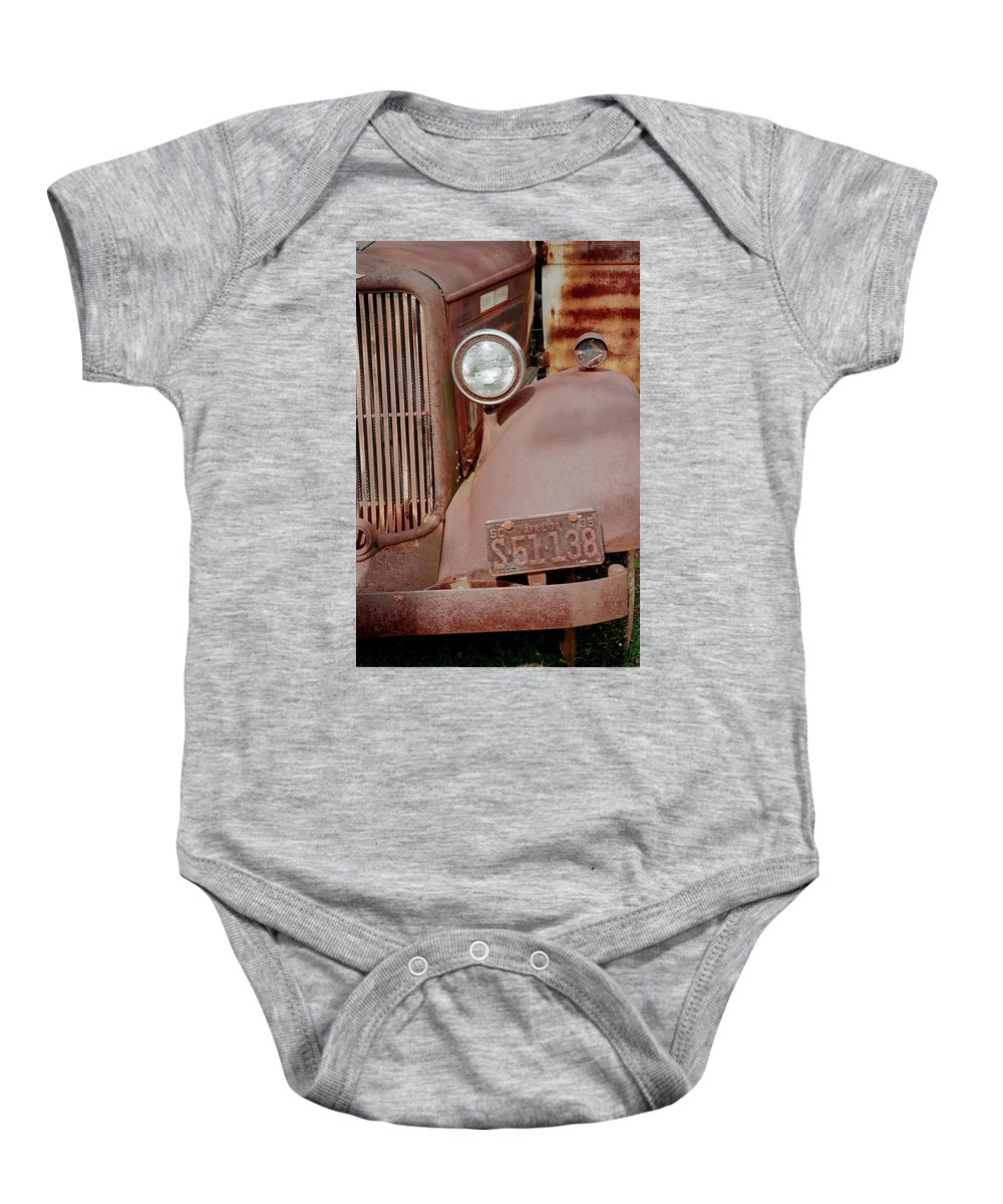 Car Baby Onesie featuring the photograph Rusty by Flavia Westerwelle