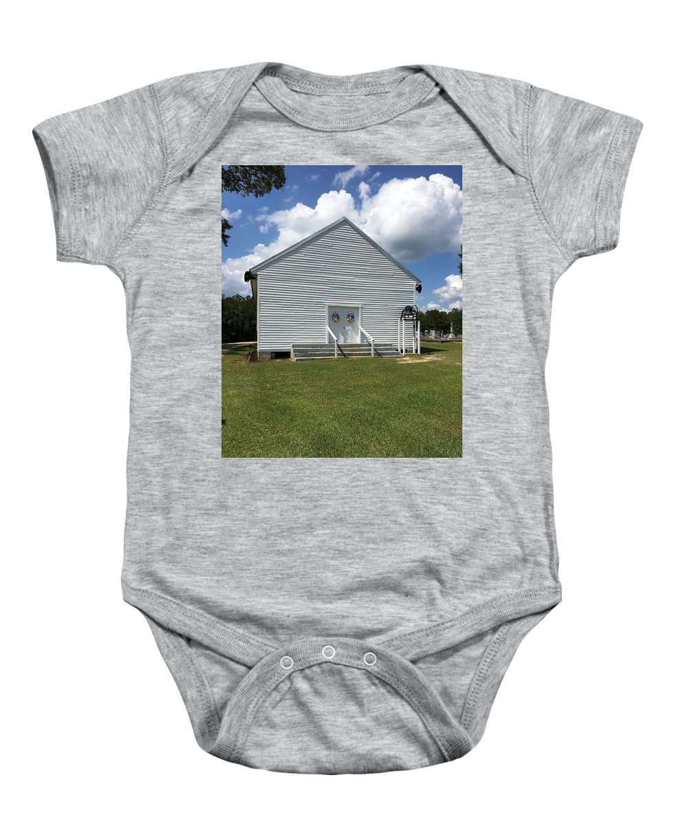 Built 1890 Ebenezer Primitive Baptist Church Baby Onesie featuring the photograph Rutledge Primitive Baptist Church by Norma Gatlin
