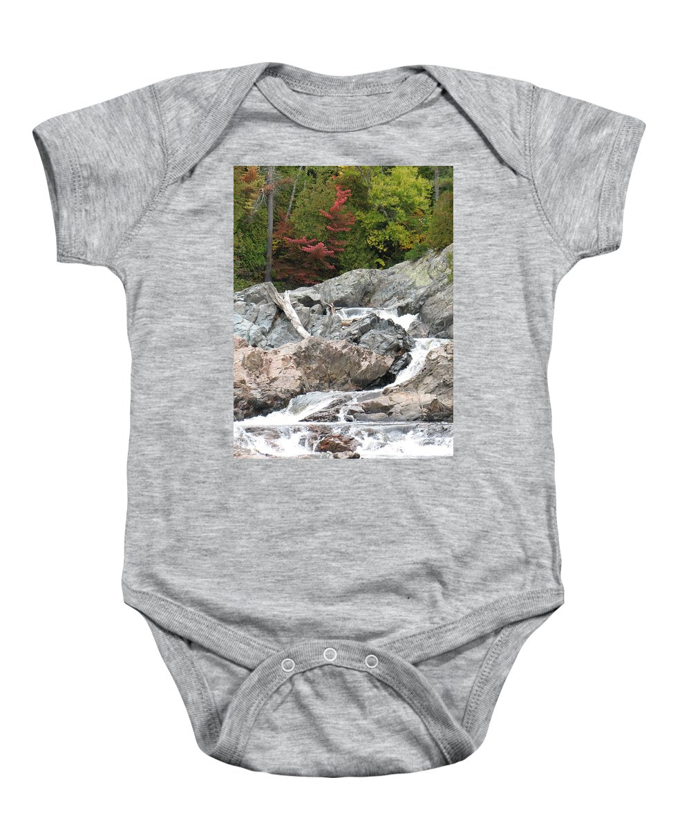 River Baby Onesie featuring the photograph S Curve by Kelly Mezzapelle
