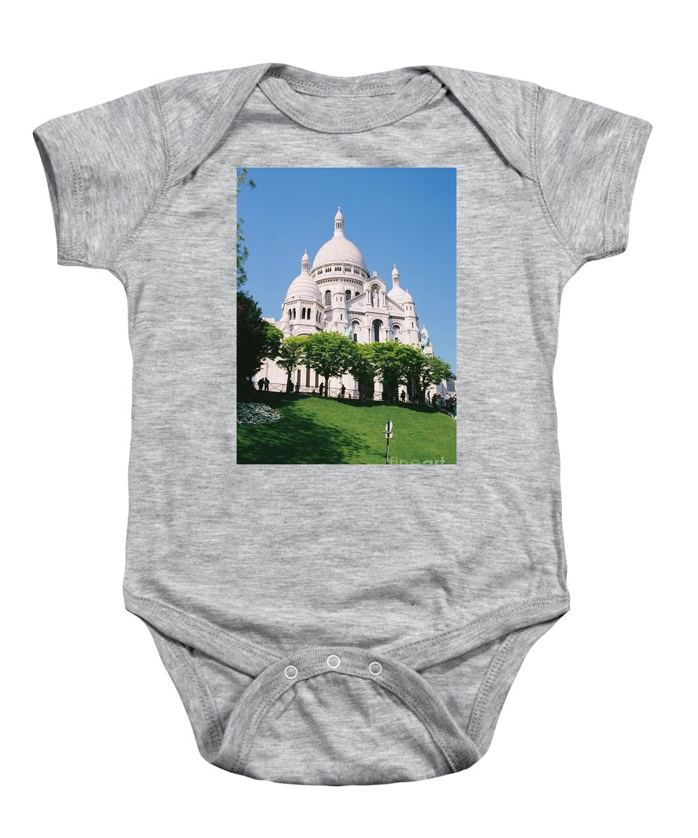 Church Baby Onesie featuring the photograph Sacre Coeur by Nadine Rippelmeyer