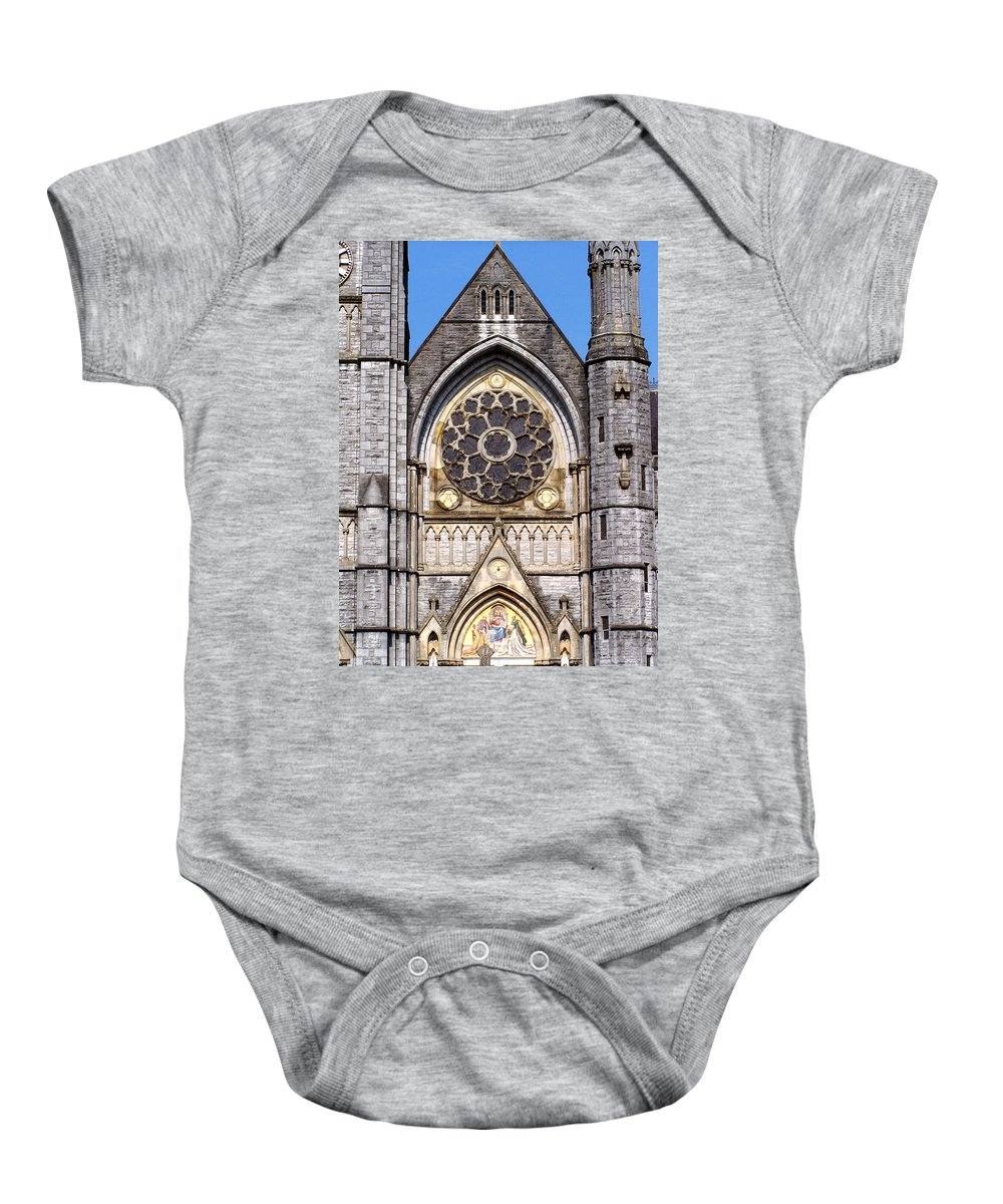 Ireland Baby Onesie featuring the photograph Sacred Heart Church Detail Roscommon Ireland by Teresa Mucha