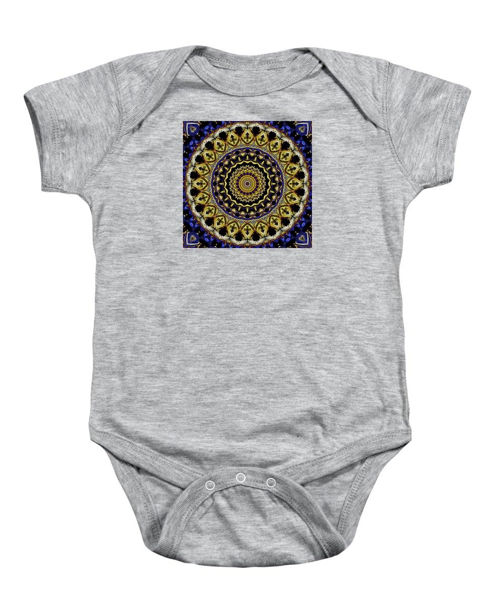 Digital Baby Onesie featuring the digital art Sacred Mandala by Joy McKenzie
