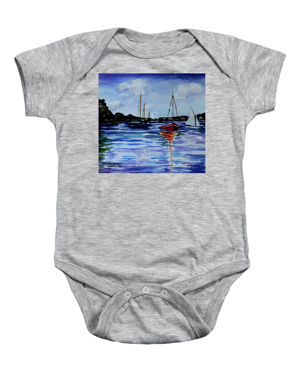Sailing Baby Onesie featuring the painting Sailing Day by Elizabeth Robinette Tyndall