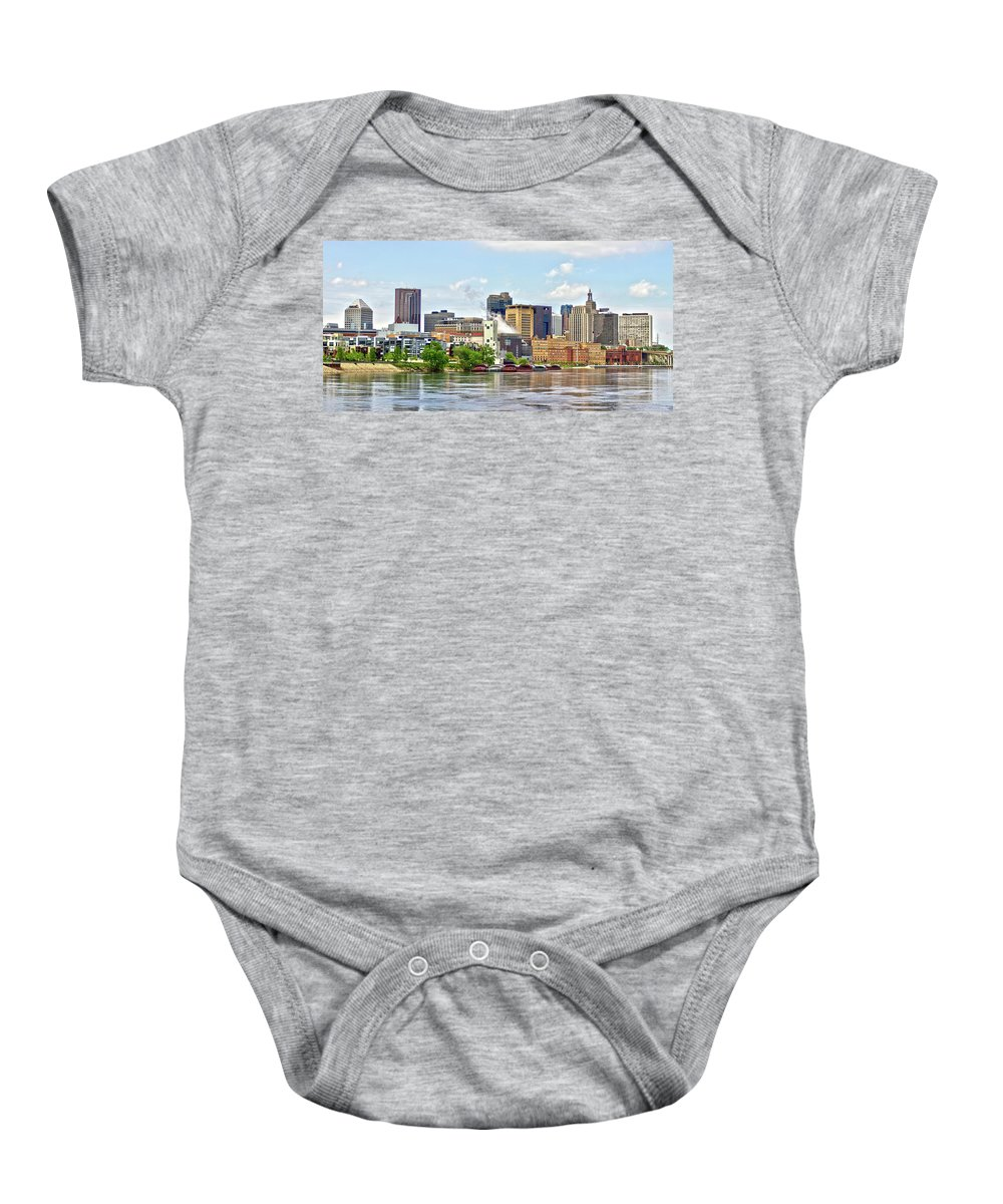 Saint Paul Baby Onesie featuring the photograph Saint Paul From The Mississippi by Brian Kenney