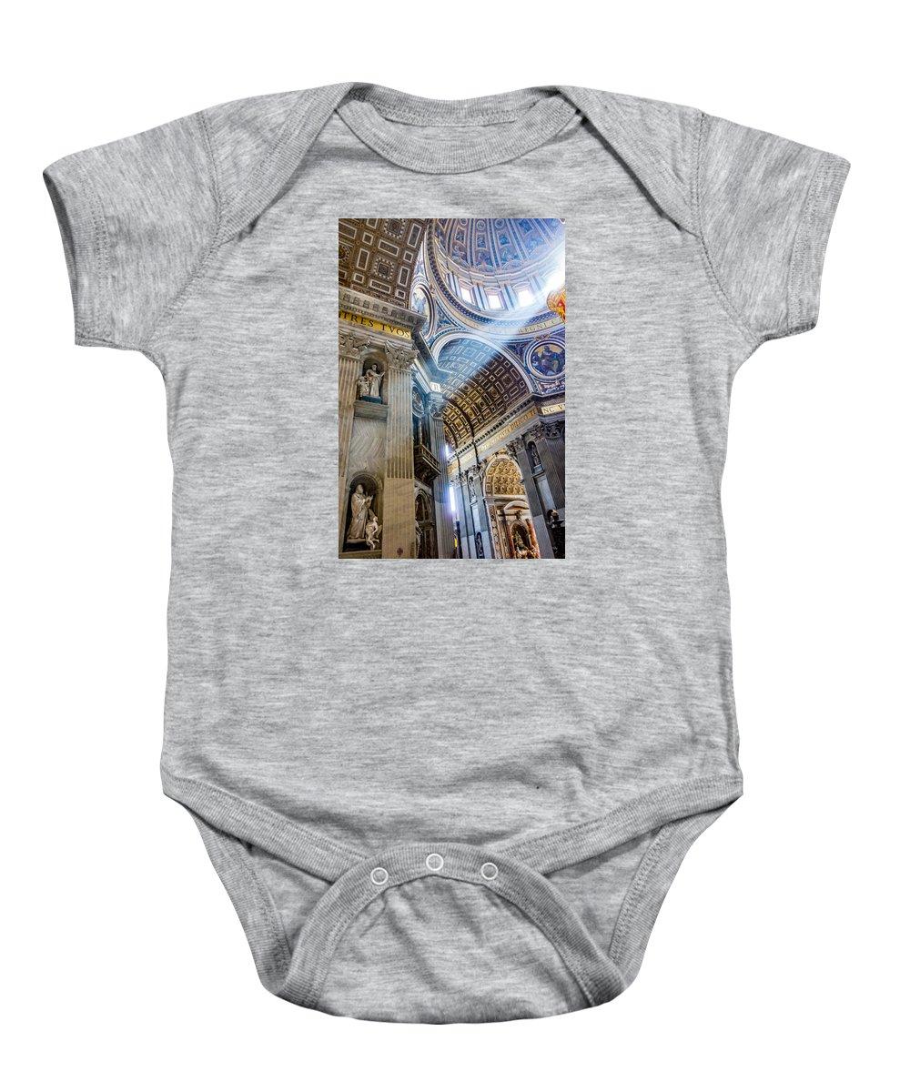 Saint Peter Baby Onesie featuring the photograph Saint Peter's Basilica by Gary Fossaceca