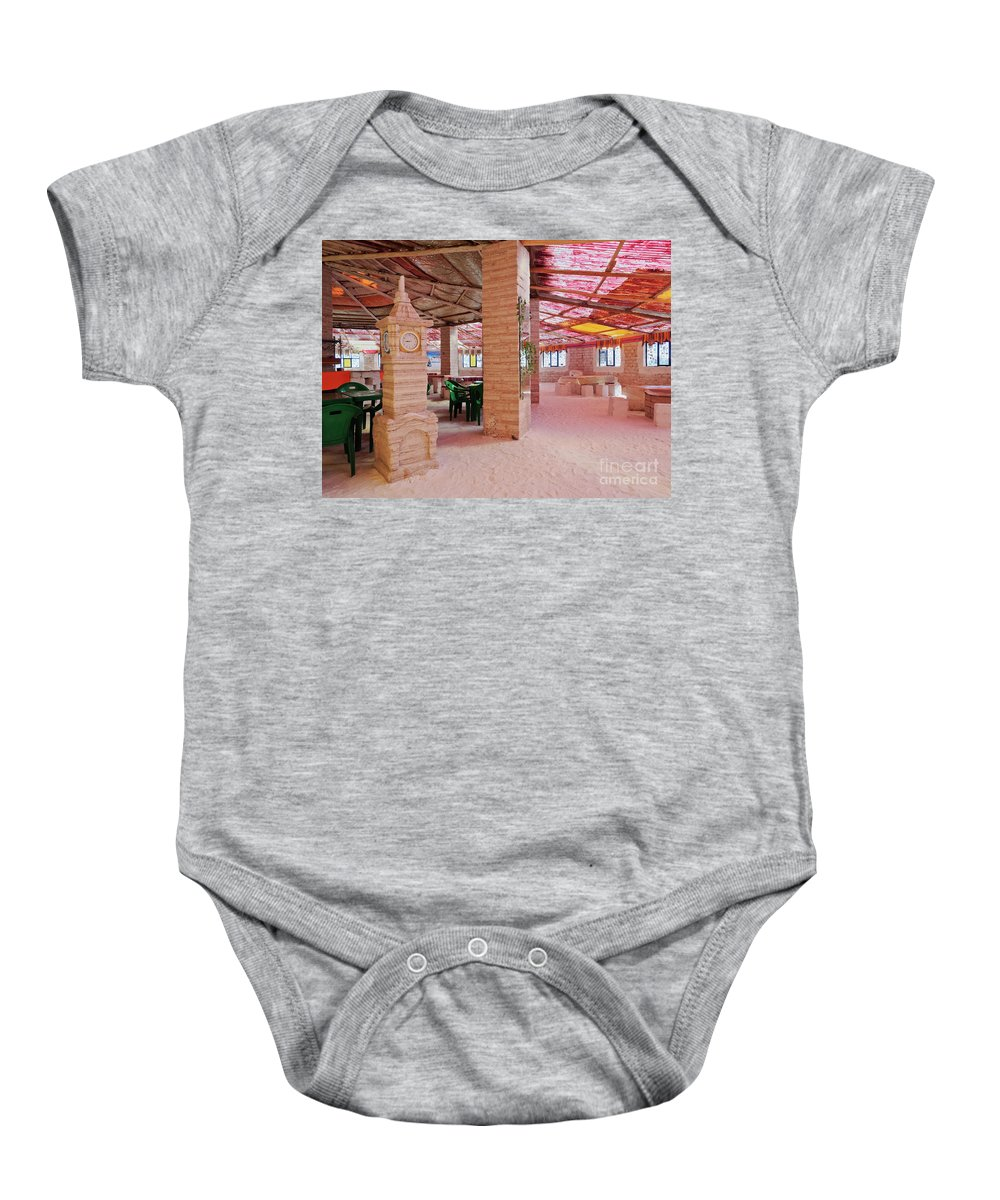 South America Baby Onesie featuring the photograph Salt Hotel, Salar De Uyuni, Bolivia by Karol Kozlowski