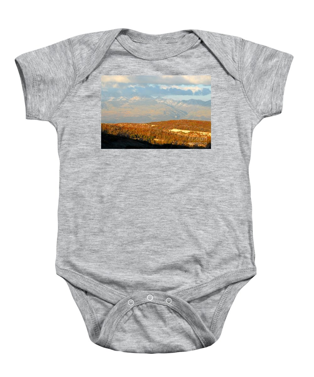 San Juan Mountains Colorado Baby Onesie featuring the photograph San Juan Mountains by David Lee Thompson