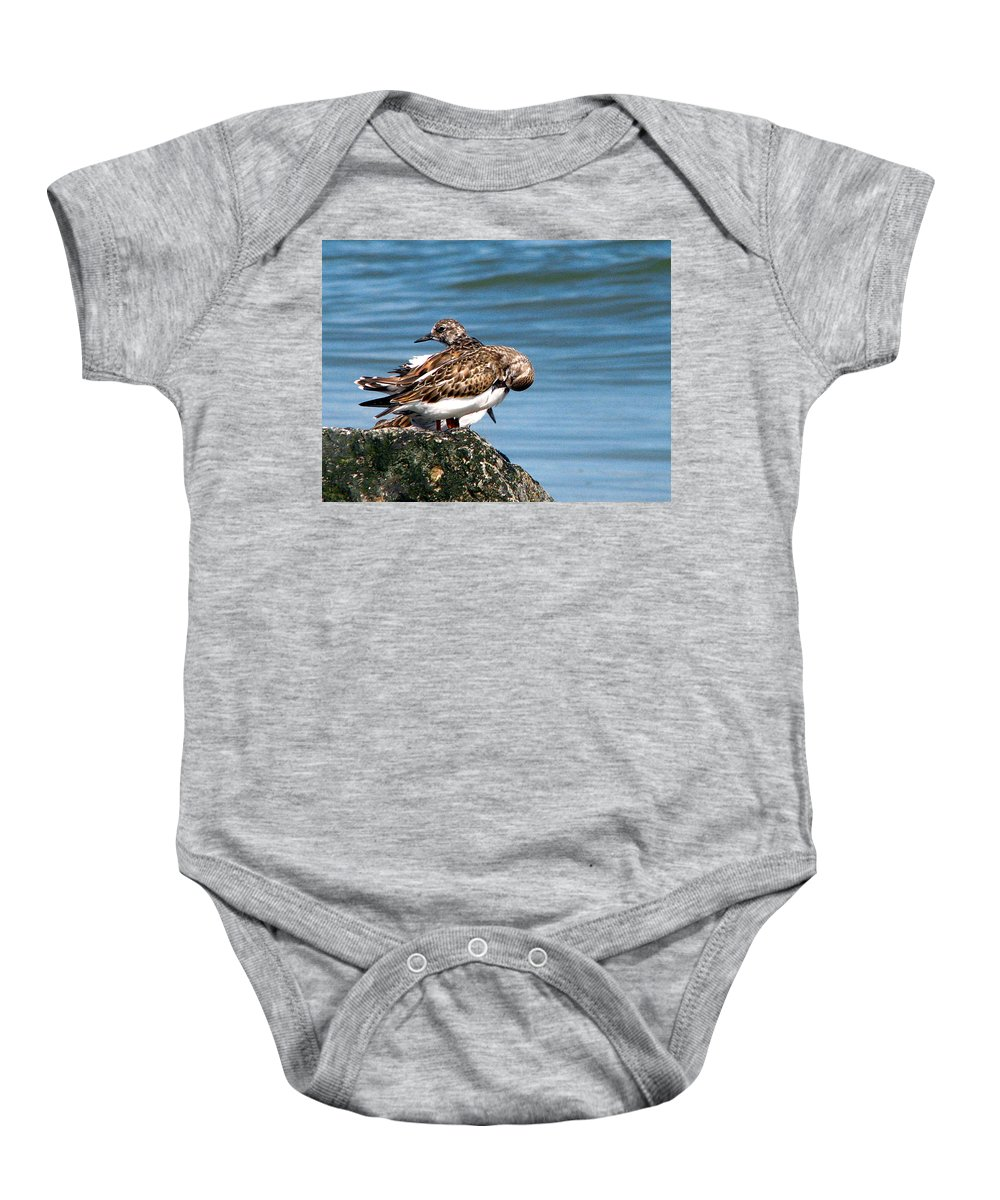 Tybee Baby Onesie featuring the photograph Sandpipers 2 by J M Farris Photography