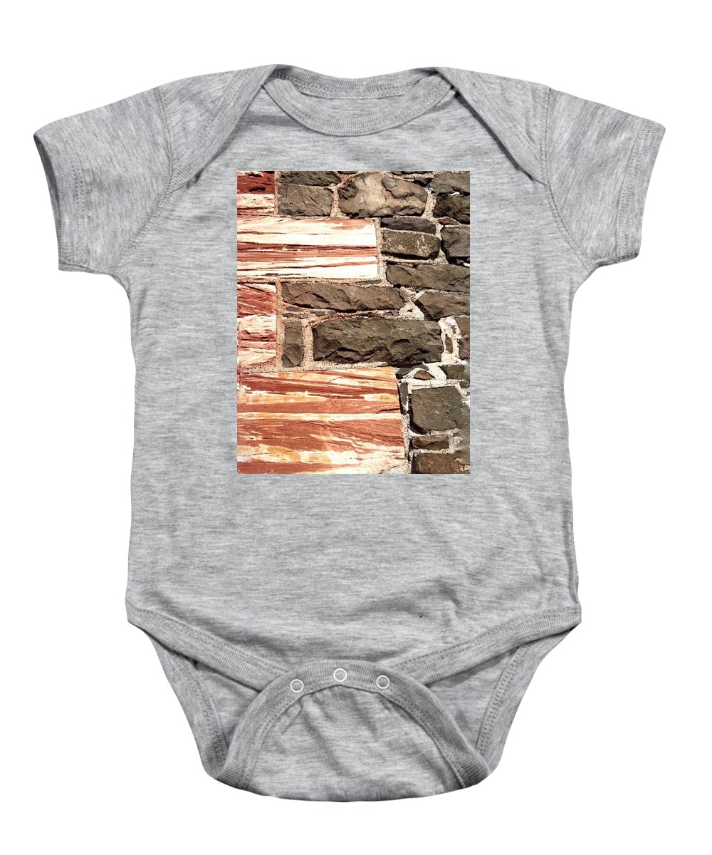 Quincy Baby Onesie featuring the photograph Sandstone Corners by Scott Wendt Tom Wierciak