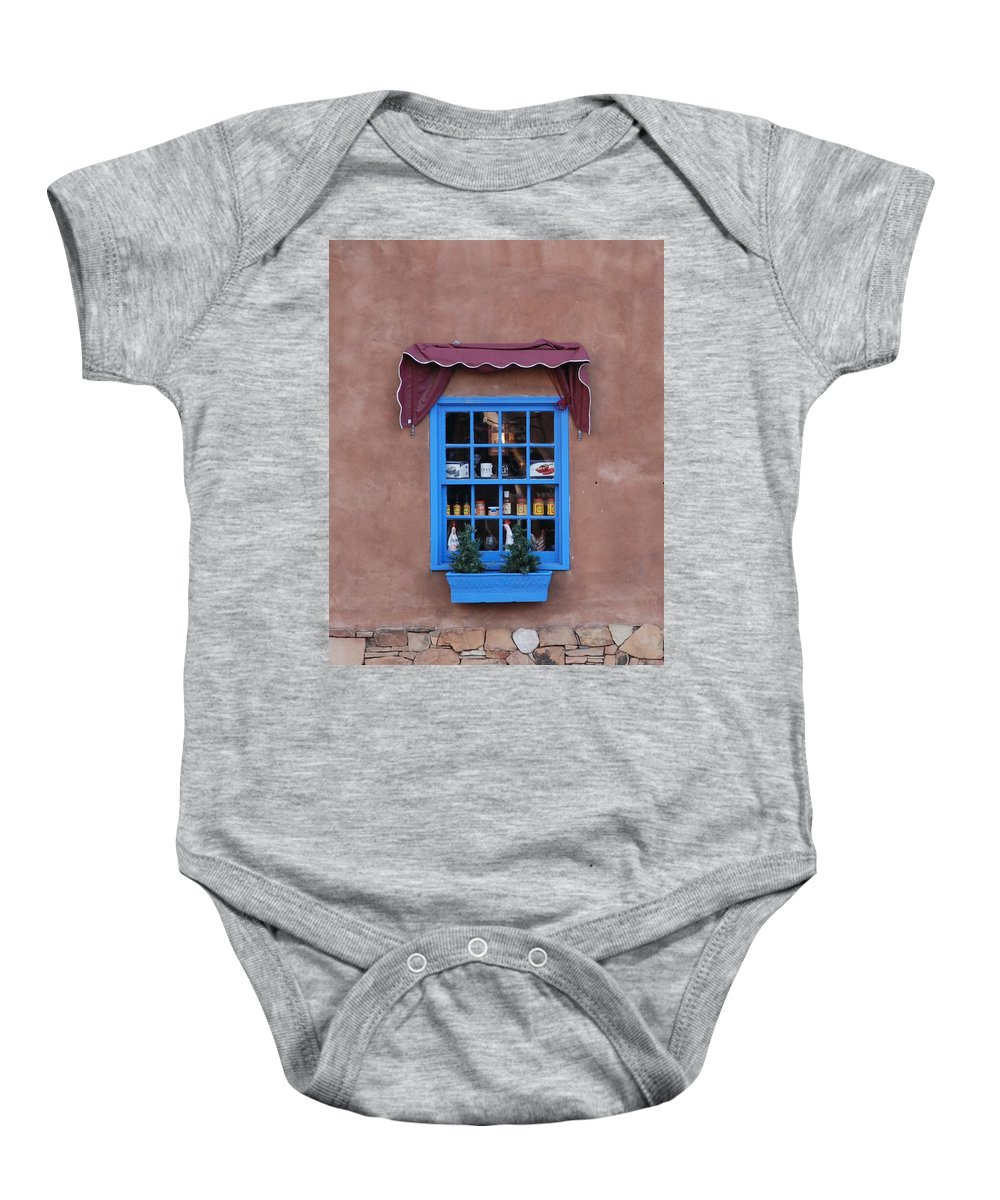 Architecture Baby Onesie featuring the photograph Santa Fe Window by Rob Hans